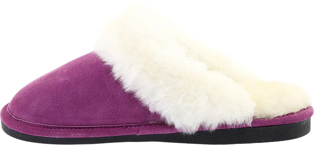 Women's Old Friend Scuff Slipper, Purple Leather, large, image 3