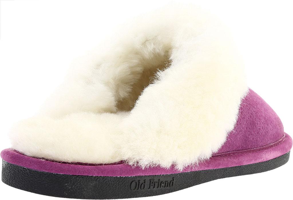 Women's Old Friend Scuff Slipper, Purple Leather, large, image 4
