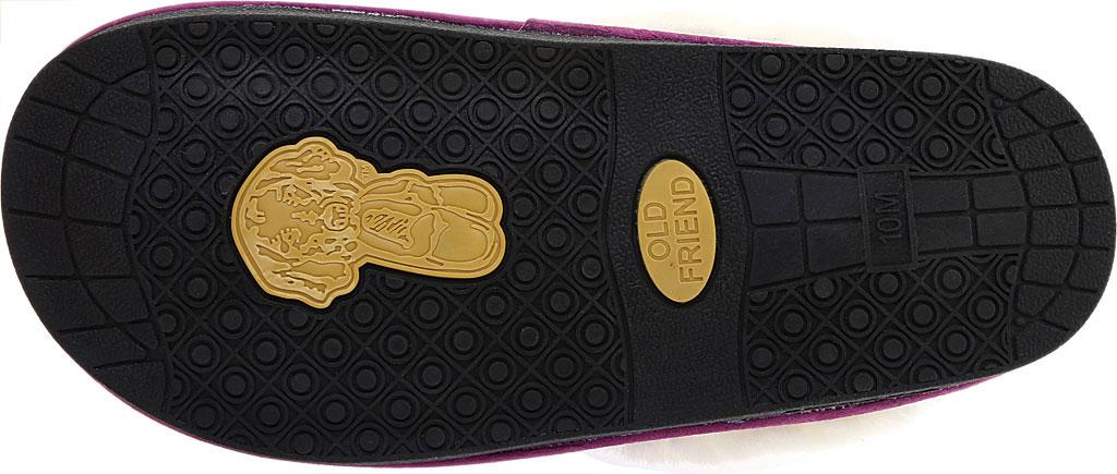 Women's Old Friend Scuff Slipper, Purple Leather, large, image 6