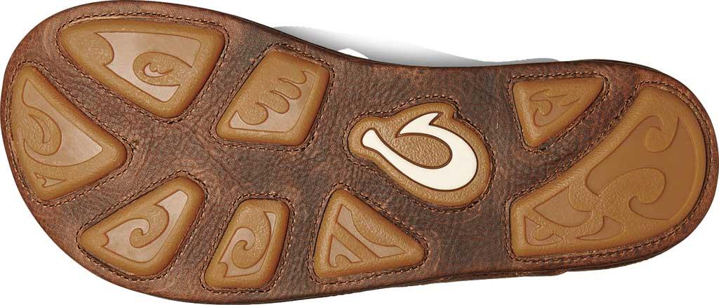 Men's OluKai Hiapo Flip Flop, Teak/Koa Full Grain Leather, large, image 3