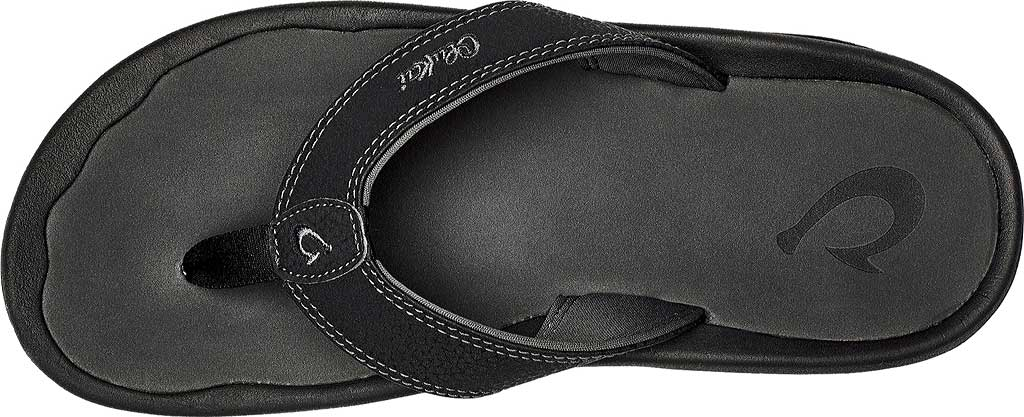 Men's OluKai Ohana Flip Flop, Deep Green/Dark Shadow Synthetic, large, image 3