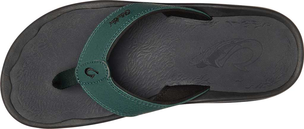Men's OluKai Ohana Flip Flop, Deep Green/Dark Shadow Synthetic, large, image 2