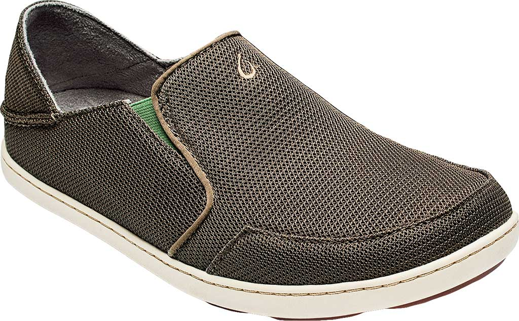 Men's OluKai Nohea Mesh Loafer, Mustang/Lime Peel, large, image 1