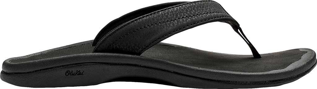Women's OluKai Ohana Flip Flop, Black/Black, large, image 1