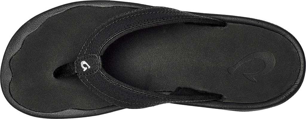 Women's OluKai Ohana Flip Flop, Black/Black, large, image 2