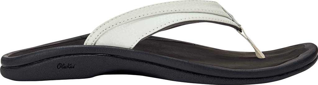 Women's OluKai Ohana Flip Flop, White/Black, large, image 1