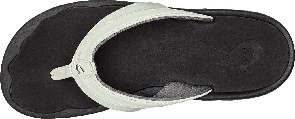 Women's OluKai Ohana Flip Flop, White/Black, large, image 2