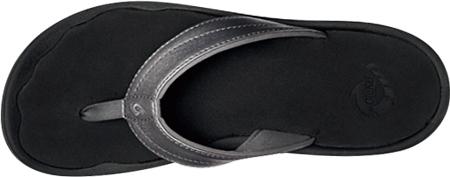 Women's OluKai Ohana Flip Flop, Pewter/Black, large, image 2
