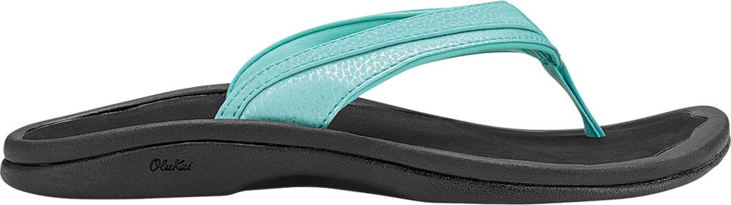 Women's OluKai Ohana Flip Flop, Sea Glass/Black, large, image 1
