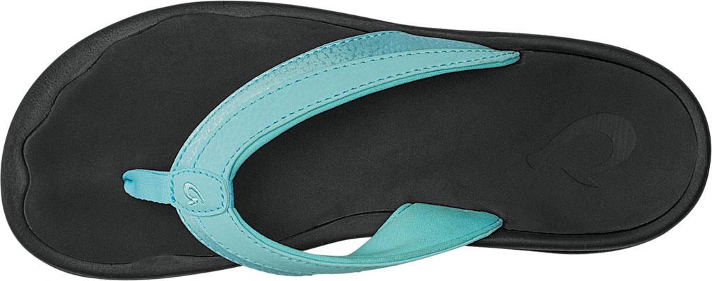 Women's OluKai Ohana Flip Flop, Sea Glass/Black, large, image 2