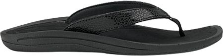 Women's OluKai Kulapa Kai Flip Flop, Black/Black, large, image 1