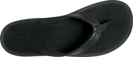 Women's OluKai Kulapa Kai Flip Flop, Black/Black, large, image 3