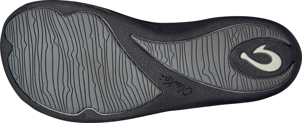 Women's OluKai Kulapa Kai Flip Flop, Fog/Black Synthetic, large, image 4