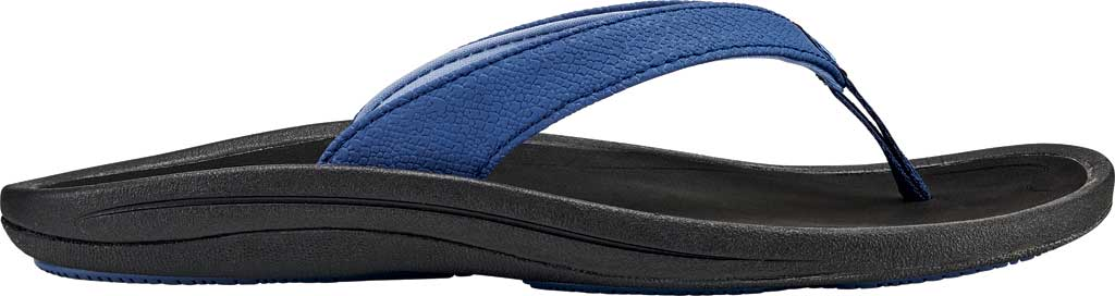 Women's OluKai Kulapa Kai Flip Flop, Navy/Black Synthetic, large, image 1