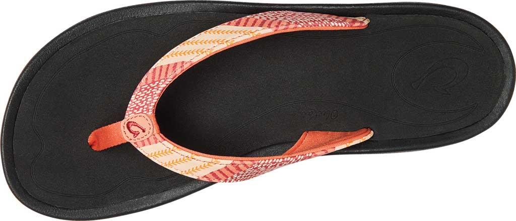 Women's OluKai Kulapa Kai Flip Flop, Fusion Coral/Kapa Stripe Synthetic, large, image 2