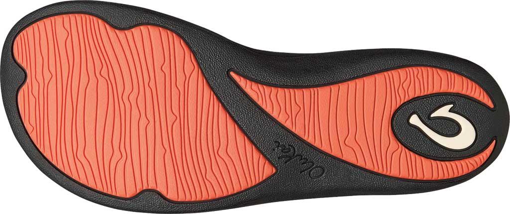 Women's OluKai Kulapa Kai Flip Flop, Fusion Coral/Kapa Stripe Synthetic, large, image 3