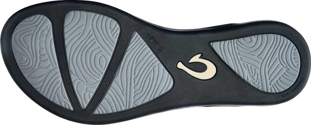 Women's OluKai Ho'opio Flip-Flop, Silver/Black Synthetic, large, image 3