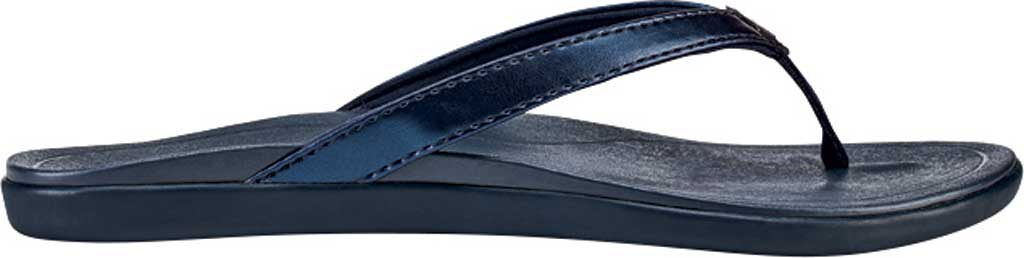 Women's OluKai Ho'opio Flip-Flop, Deepest Depths/Deepest Depths Synthetic, large, image 1