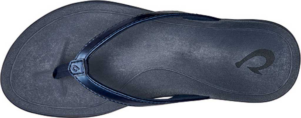 Women's OluKai Ho'opio Flip-Flop, Deepest Depths/Deepest Depths Synthetic, large, image 2