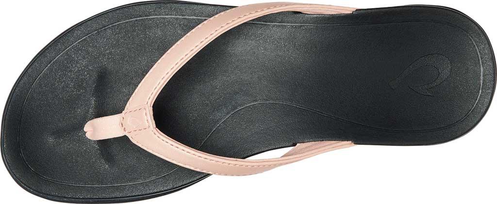 Women's OluKai Ho'opio Flip-Flop, Petal Pink Metallic/Black Synthetic, large, image 3
