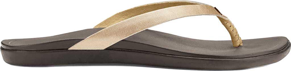 Women's OluKai Ho'opio Leather Flip-Flop, Bubbly Leather, large, image 1