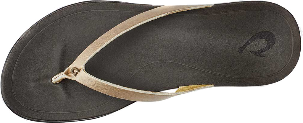 Women's OluKai Ho'opio Leather Flip-Flop, Bubbly Leather, large, image 2