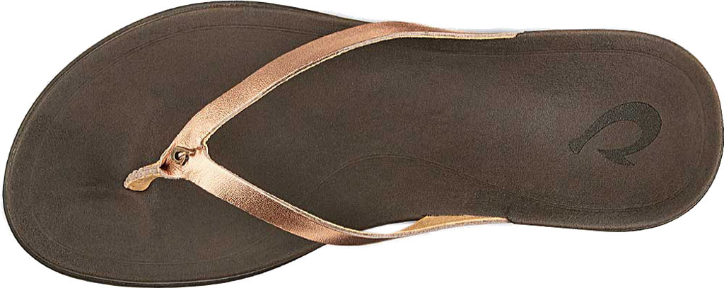 Women's OluKai Ho'opio Leather Flip-Flop, Copper Leather, large, image 2