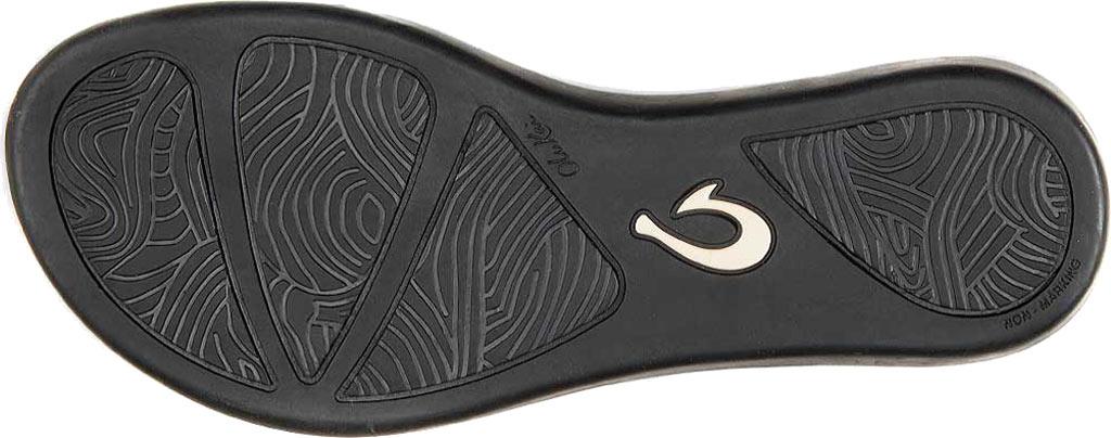 Women's OluKai Ho'opio Leather Flip-Flop, Onyx Leather, large, image 3