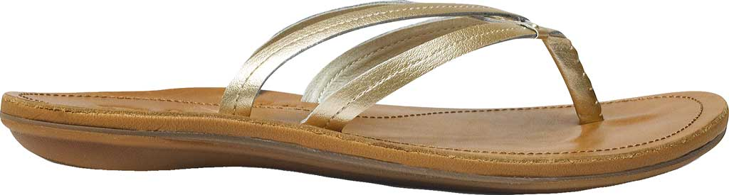 Women's OluKai U'I Thong Sandal, Bubbly/Sahara, large, image 1