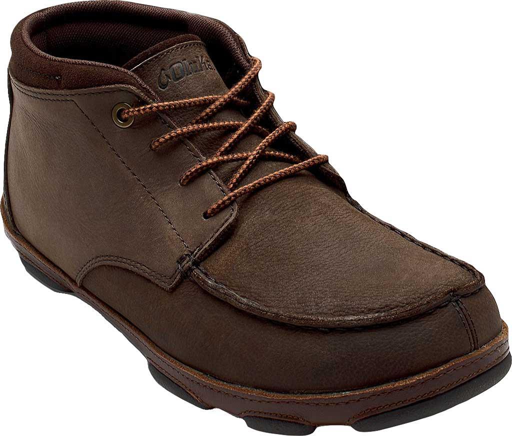 Men's OluKai Hamakua Ankle Boot, Dark Wood/Toffee, large, image 1