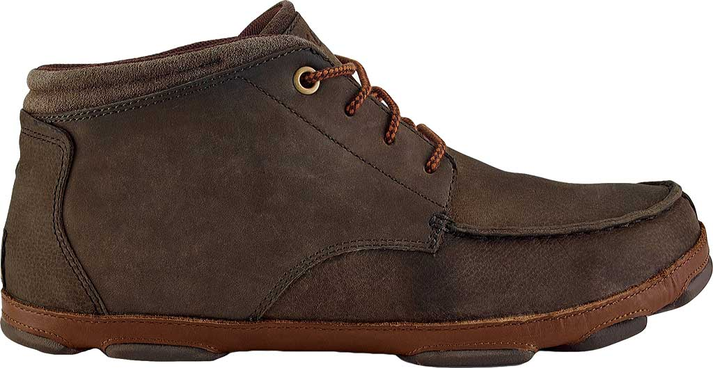 Men's OluKai Hamakua Ankle Boot, Dark Wood/Toffee, large, image 2