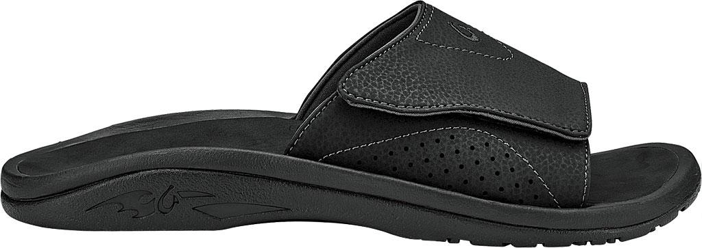 Men's OluKai Nalu Slide, Black, large, image 1