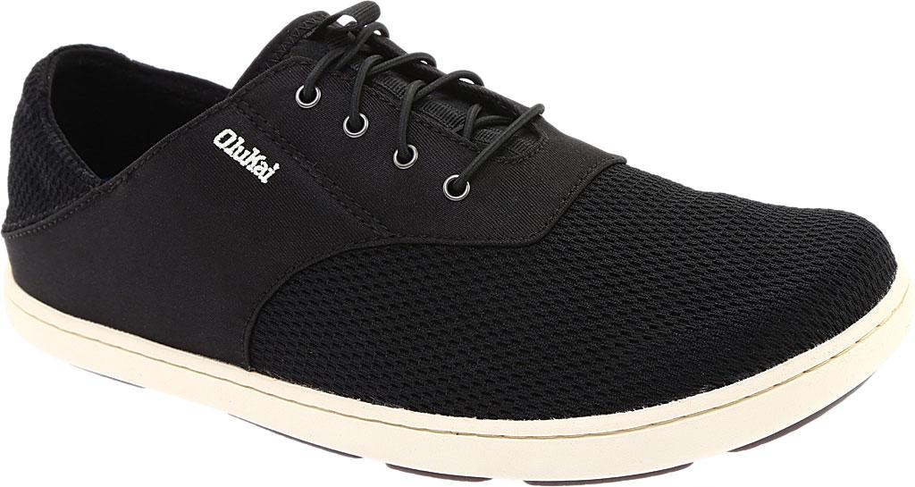 Men's OluKai Nohea Moku Sneaker, Onyx/Onyx, large, image 1