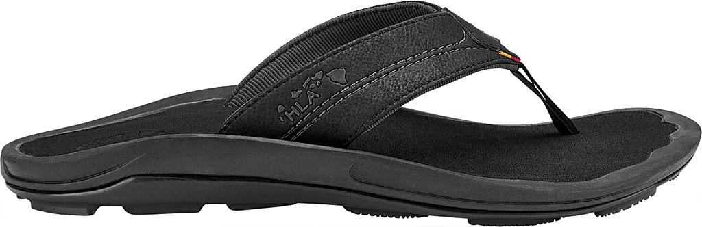 Men's OluKai Kipi Flip Flop, Black, large, image 1