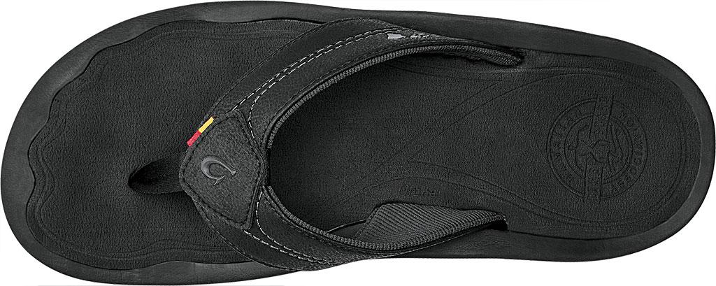 Men's OluKai Kipi Flip Flop, Black, large, image 2