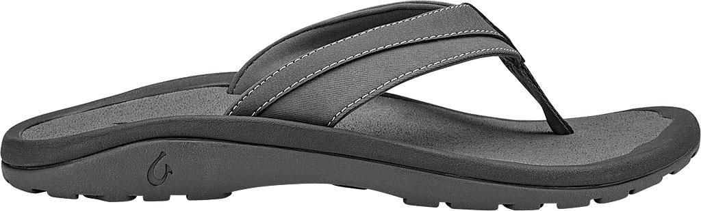 Men's OluKai Ohana Koa Flip Flop, Charcoal, large, image 1