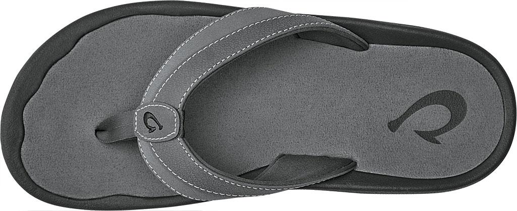 Men's OluKai Ohana Koa Flip Flop, Charcoal, large, image 2