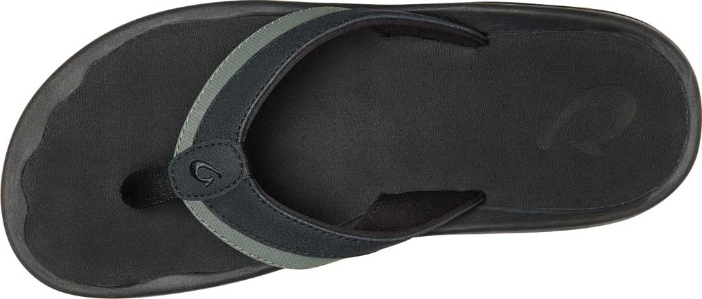 Men's OluKai Ohana Koa Flip Flop, Lava Rock/Lava Rock Synthetic, large, image 3