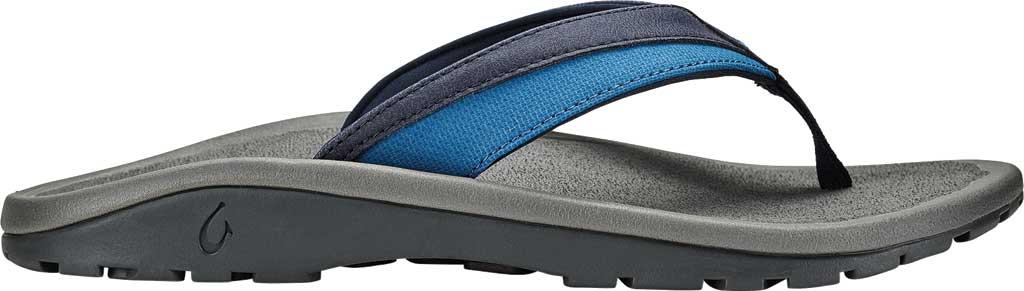 Men's OluKai Ohana Koa Flip Flop, Trench Blue/Stone Synthetic, large, image 1