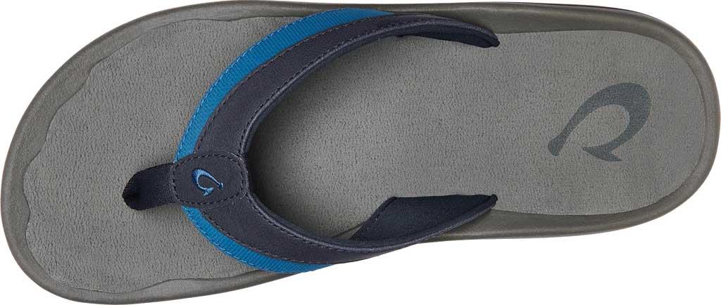 Men's OluKai Ohana Koa Flip Flop, Trench Blue/Stone Synthetic, large, image 2