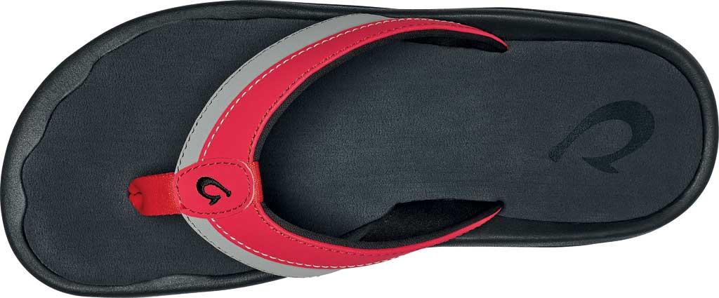 Men's OluKai Ohana Koa Flip Flop, Lychee Red/Poi Synthetic, large, image 3
