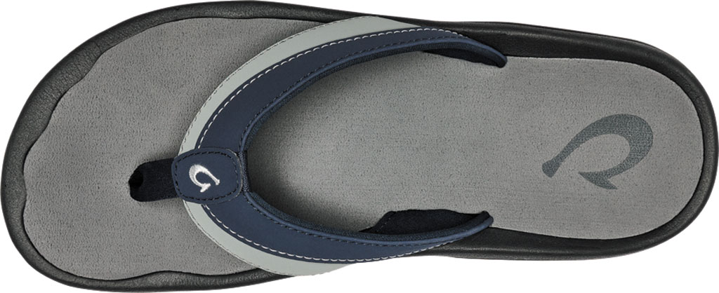 Men's OluKai Ohana Koa Flip Flop, Trench Blue/Poi Synthetic, large, image 3