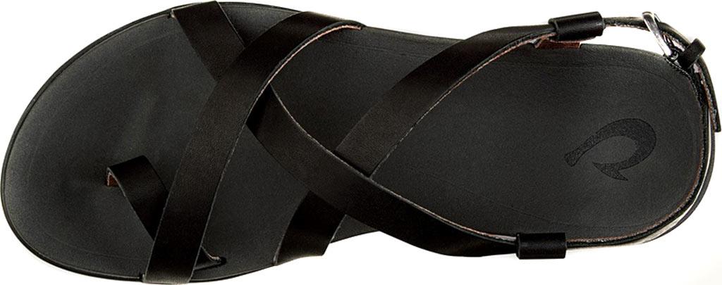 Women's OluKai Upena Quarter Strap Sandal, Black/Black, large, image 2