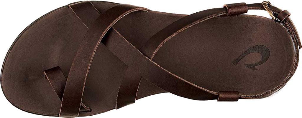 Women's OluKai Upena Quarter Strap Sandal, Kona Coffee Leather, large, image 2