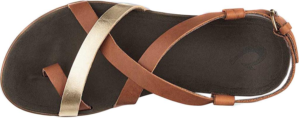 Women's OluKai Upena Quarter Strap Sandal, Mustard/Bubbly Leather, large, image 2