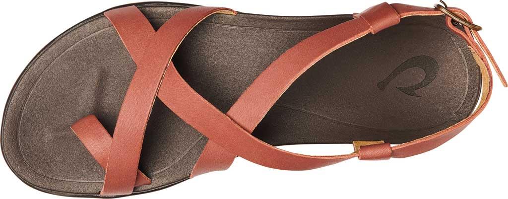 Women's OluKai Upena Quarter Strap Sandal, Cedar Wood/Dark Java Full Grain Leather, large, image 3