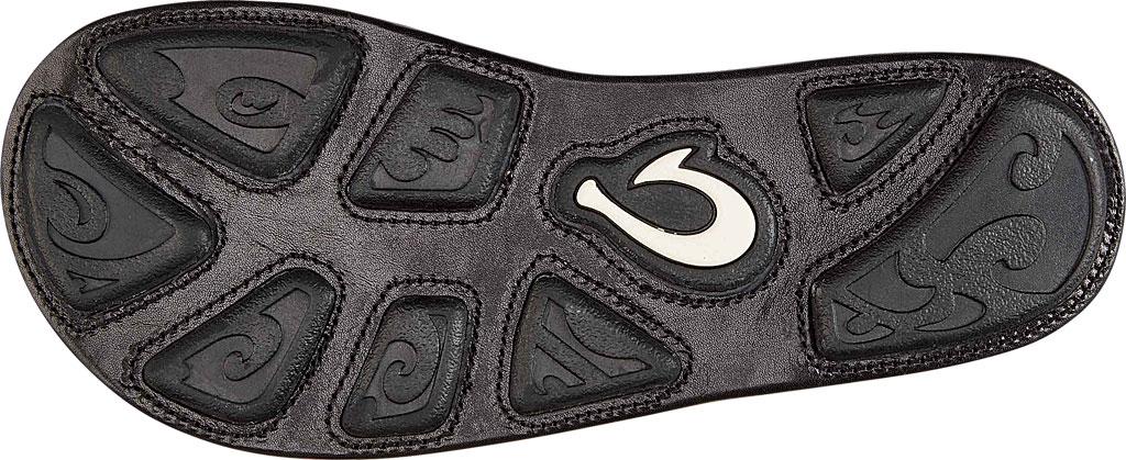 Men's OluKai Kulia Thong Sandal, Black/Black Leather, large, image 3