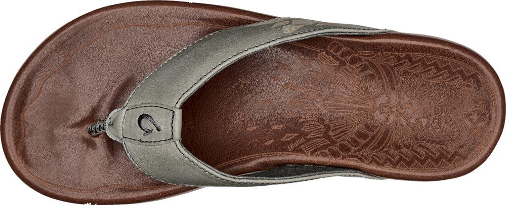 Men's OluKai Kulia Thong Sandal, Charcoal/Dark Wood Leather, large, image 2