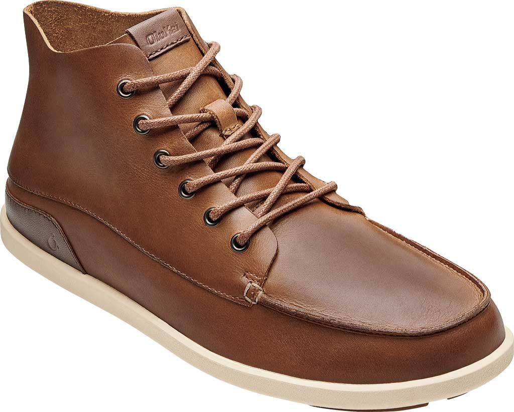 Men's OluKai Nalukai Ankle Boot, Fox/Bone Full Grain Leather, large, image 1