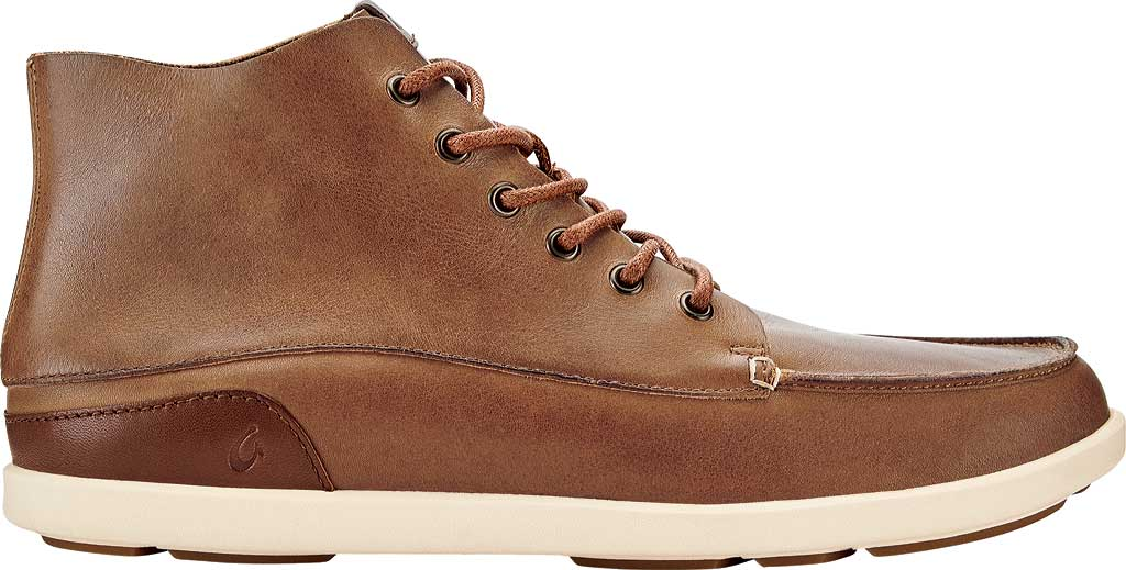 Men's OluKai Nalukai Ankle Boot, Fox/Bone Full Grain Leather, large, image 2